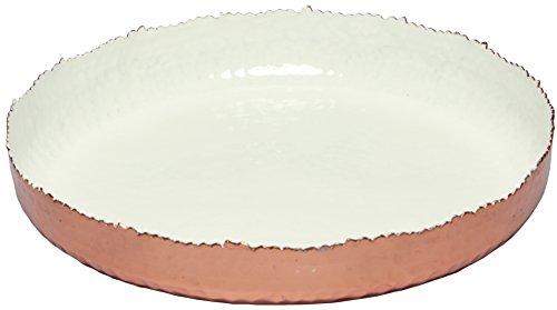 Melange Home Decor Copper Collection, 11-inch Round Platter, Color - White, Pack of 6 by Melange (Image #1)