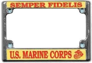 Corps Marine Motorcycle - U.S. Marine Corps Semper Fidelis Chrome Metal Motorcycle License Plate Frame