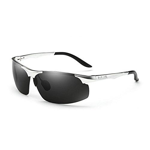 de Hombres Gafas Gafas UV Sol DT de Sol Hombres Ronda Color 7 de Conducción Cara Retro polarizadas Conducción Gafas 3 wgx1w0R