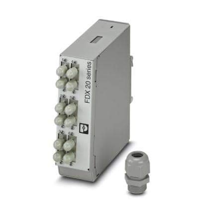 Fiber Optic Transmitters, Receivers, Transceivers FOC-FDX20-PP STD6-OM2-PT9 (1019683) by Phoenix Contact (Image #1)