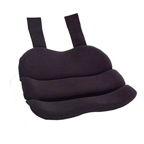 ObusForme Black Contoured Seat Cushion, Hold Pelvis And Hips In A Balanced Position, High-Density Foam For Superior Comfort, Flexible Support Panel To Evenly Distributes Body -