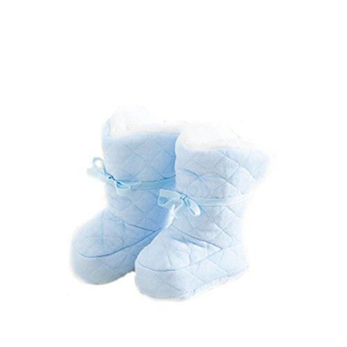 YULAN Cute Baby Mädchen Jungen Neugeborenen Winter Warm Kleinkind Baumwolle Weiche Sohle Schuhe Für 0-6Months Blau