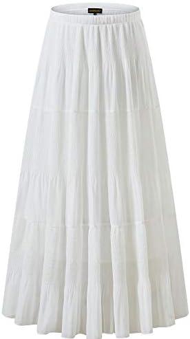 Chiffon skirts long _image4