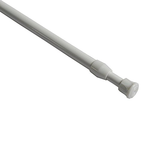 Easy2hang Extendable Telescopic Window Curtain Rod, Shower Tension Rod,Locker Room Partition,White (20.5'-33.5')2PCS (2)