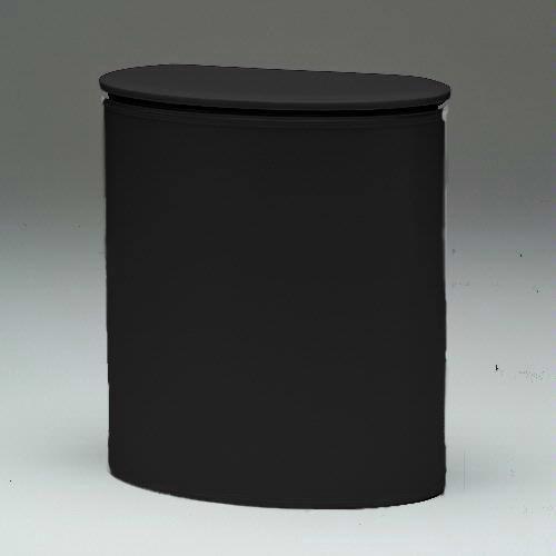 Redmon European Edition Vinyl Oval Hamper, Black - European Oval Laundry Hamper