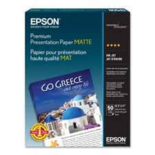Epson EPSS041257 Presentation Paper44;Matte44;44 lb44;8.5 in. x 11 in.44;50-PK44;WE