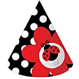 Creative Converting Ladybug Fancy Birthday Party Hats, 8-Count