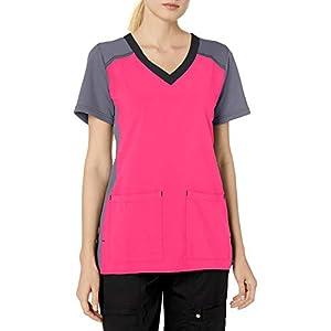 Carhartt Cross-Flex Women's Mulit Color Knit Mix V Neck Scrub Top