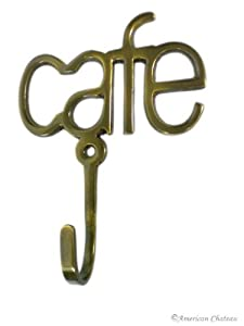 metal hooks. metal hooks sign brass cafe lettering coffee cup bistro kitchen wall hook e