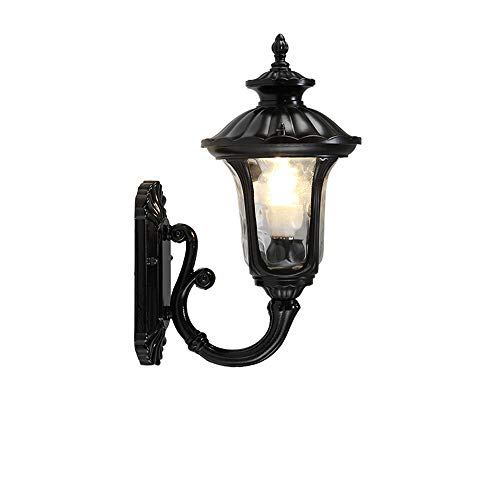 Modenny European Wall Lamp IP65 Waterproof Antirust Aluminum Outdoor Hanging Lantern Light Retro Villa Stairs Aisle Wall Light LED Courtyard Balcony Terrace Retro Wall ()
