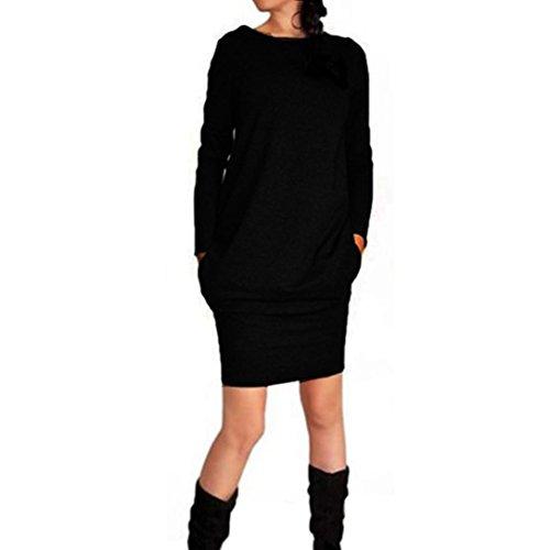 Damen KleiderWomens New Trendy Casual Herbst Winter Paket Hüfte ...
