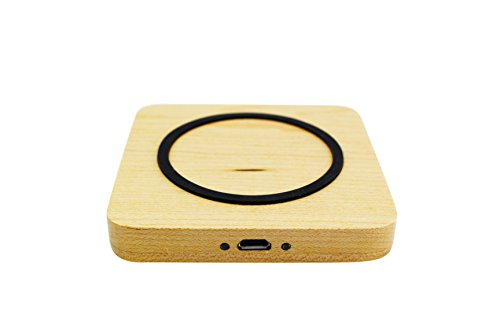 Wireless Ps3 Pad (ACEDIUS Bamboo wireless charger,Maple wood Qi wireless charging pad with micro usb cable for Samsung Galaxy Note 8/S8/S8+/S7/S7+/Note5,standard charge for iphone X, iphone8,iphone 8plus(square))