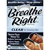 Breathe Right Nasal Strips, Small/Medium, Clear, 30 Count Sold By HERO24HOUR Thank You