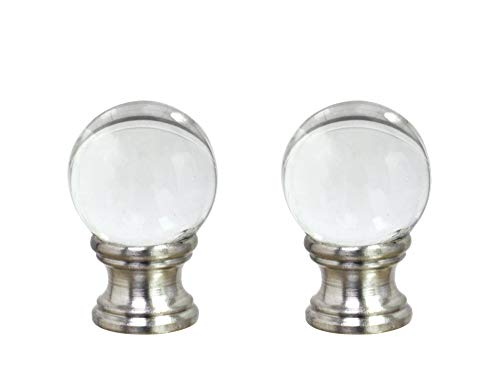 - Aspen Creative 24014-12, 2 Pack Clear Glass Ball Lamp Nickel Finish, 1 1/2