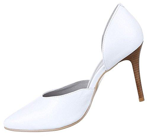 Leder Pumps Damen Heels Schuhe High r5cnSEcWA