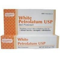 White Petrolatum Jelly - Fougera White petrolatum USP skin protectant jelly - 1 oz by Fougera