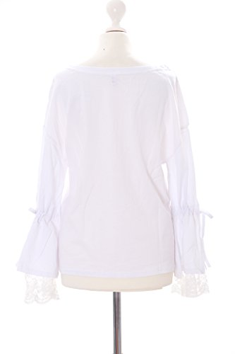 Para Camiseta Mujer De Talla Kawaii Blanco Larga Única story Manga BXf4fwgq
