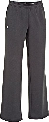 Under Armour Women's UA Team Rival Fleece Pants, Black/White, XLarge