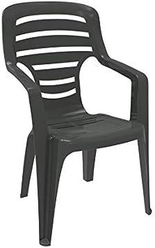resol set de 2 sillones de jardín exterior Pireo - color antracita: Amazon.es: Jardín