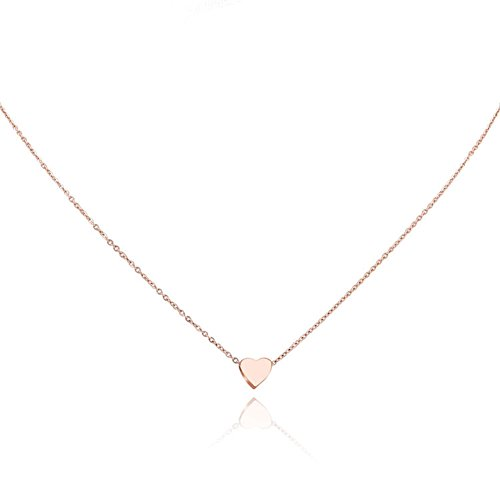 Rose Gold Heart Necklace Amazoncom