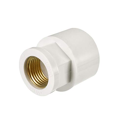 (uxcell 32mm Slip x 1/2 PT Female Brass Thread PVC Pipe Fitting Adapter)