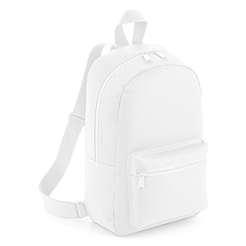 b6d7f923a09 BagBase School Backpack Mini essential fashion backpack 23x35x12cm 6L White:  Amazon.co.uk: Sports & Outdoors