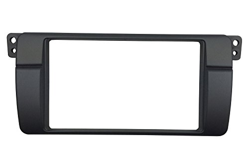 DKMUS 179x105mm Opening Dash Installation Trim Kit for BMW 3 Series M3 E46 Double Din Radio Stereo DVD Facia