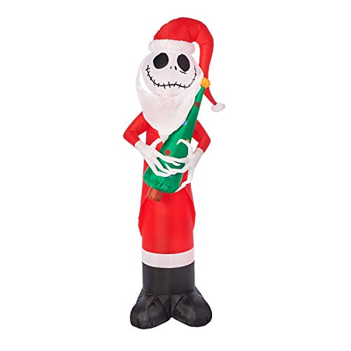 Gemmy 5.5FT Tall Inflatable Jack Skellington with Christmas Tree Indoor/Outdoor Holiday Decoration (Gemmy Christmas Trees)