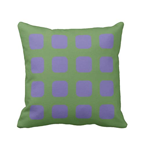 (Viki Short-Pile Velvet Throw Pillow Cover Decorative Pillow Case Home Décor Preppy Buffalo Check Plaid Mint Green Square Cushion Covers for Sofa 20 X 20 Inches)