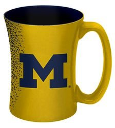 NCAA Michigan Wolverines Mocha Mug, 14-ounce, Yellow