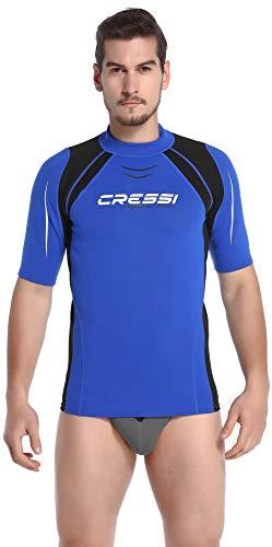 Corte Short Uomo Termica Blu T Cressi nero Thermo Sl Maniche shirt Man Vest CwwfStzq
