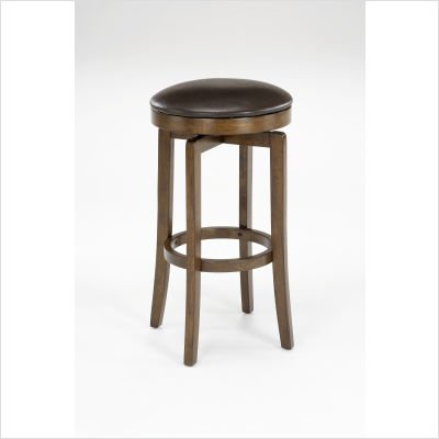 Hillsdale Furniture Brendan Backless Counter Stool Brown Cherry