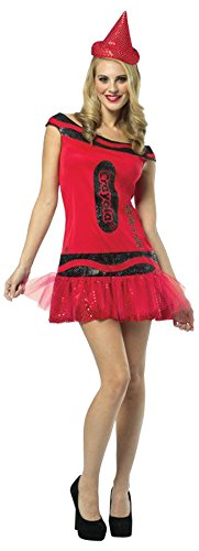 Crayola Big Dip O Ruby Outfit Adult Funny Theme Party Costume, OS (6-10)