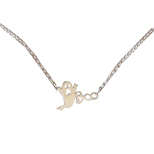 Brave669 Women Halloween Jewelry Decor Pendant Collarbone Chain Necklace Silver