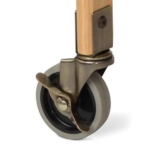 Child Craft Evacuation Casters for Bristol Crib, Antique Brass, 4 Inch ()