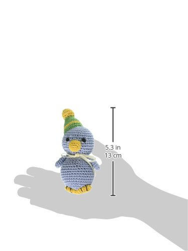 Image of Mirage Pet Products 500-006 Knit Knacks Disco Duck Organic Cotton Dog Toy, Small