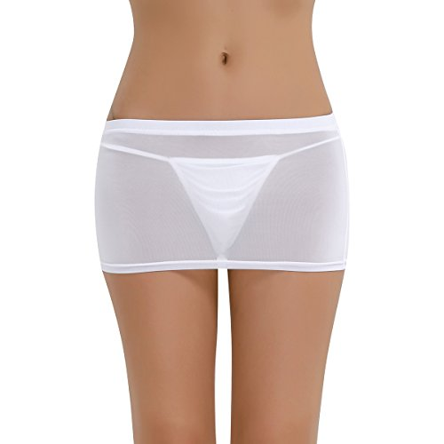 Patineuse Jupe Evase Bar Pub Clubwear Transparent Robe Sexy Soire iixpin Sore Mini Femme Short Blanc Club Courte Performance de xE8nF4