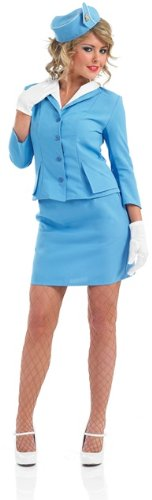 Pan Am Costume (PAN AM Blue Air Hostess Female Fancy Dress Costume - XL (US 18-20))