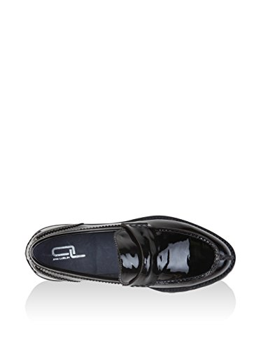 Loafer Women's 8 Ana Lublin Black Black Flats UK zxE4Fnv