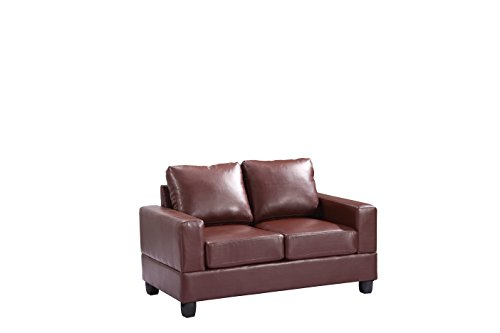 Glory Furniture G300A-L Living Room Love Seat, Brown