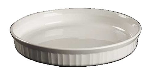 Corning Ware French White Round Quiche Pan ( 10 1/2 inch ) ( F-3-B )