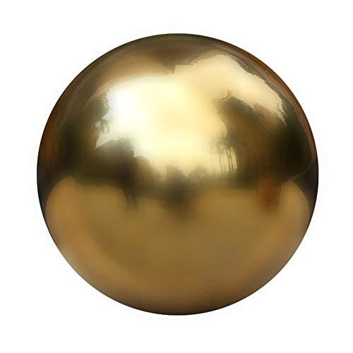 12 inch Stainless Steel Gazing Ball Titanium Gold Mirror Ball for Garden Home Decoration by Younar
