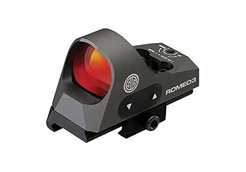 Sig Sauer SOR31002 Romeo 3 Miniature Reflex Sight with Riser 1x25mm 3 MOA Red Dot Reticle Graphite