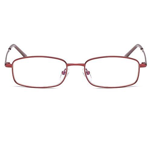 Inlefen completo estuche fotograma Gafas de Bloqueo lectura de Rojo Lectores con azul Gafas computadora luz Lectores de de rtaHwqWr