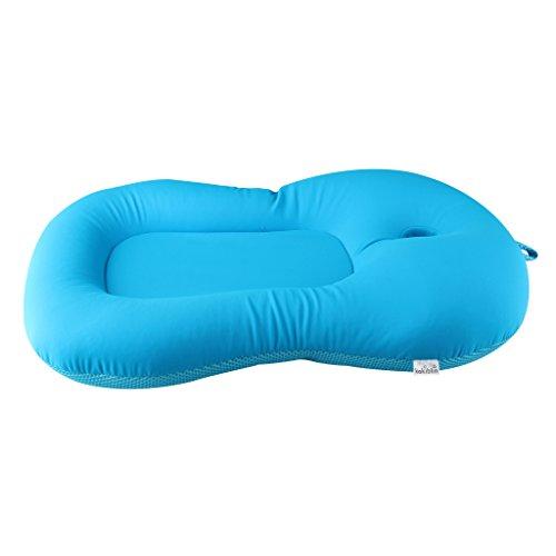Baby Bath Cushion,Kakiblin 0-6 Month Newborn Bath Anti-Slip Cushion Seat (Blue) by KAKIBLIN