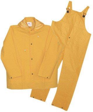 (Boss 3PR0300YL Large Yellow 3-Piece Lined PVC Rain Suit)