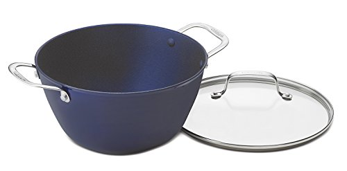 Cuisinart CIL4525-26BB CastLite Non-Stick Cast Iron Dutch Oven with Cover, 5.25-Quart, Blue on Blue