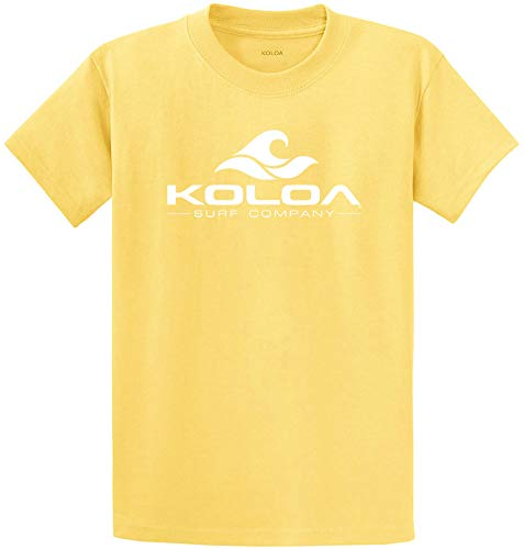 Soccer Heavyweight Cotton Tee - Koloa Youth Wave Logo Cotton T-Shirts in Size Small Yellow