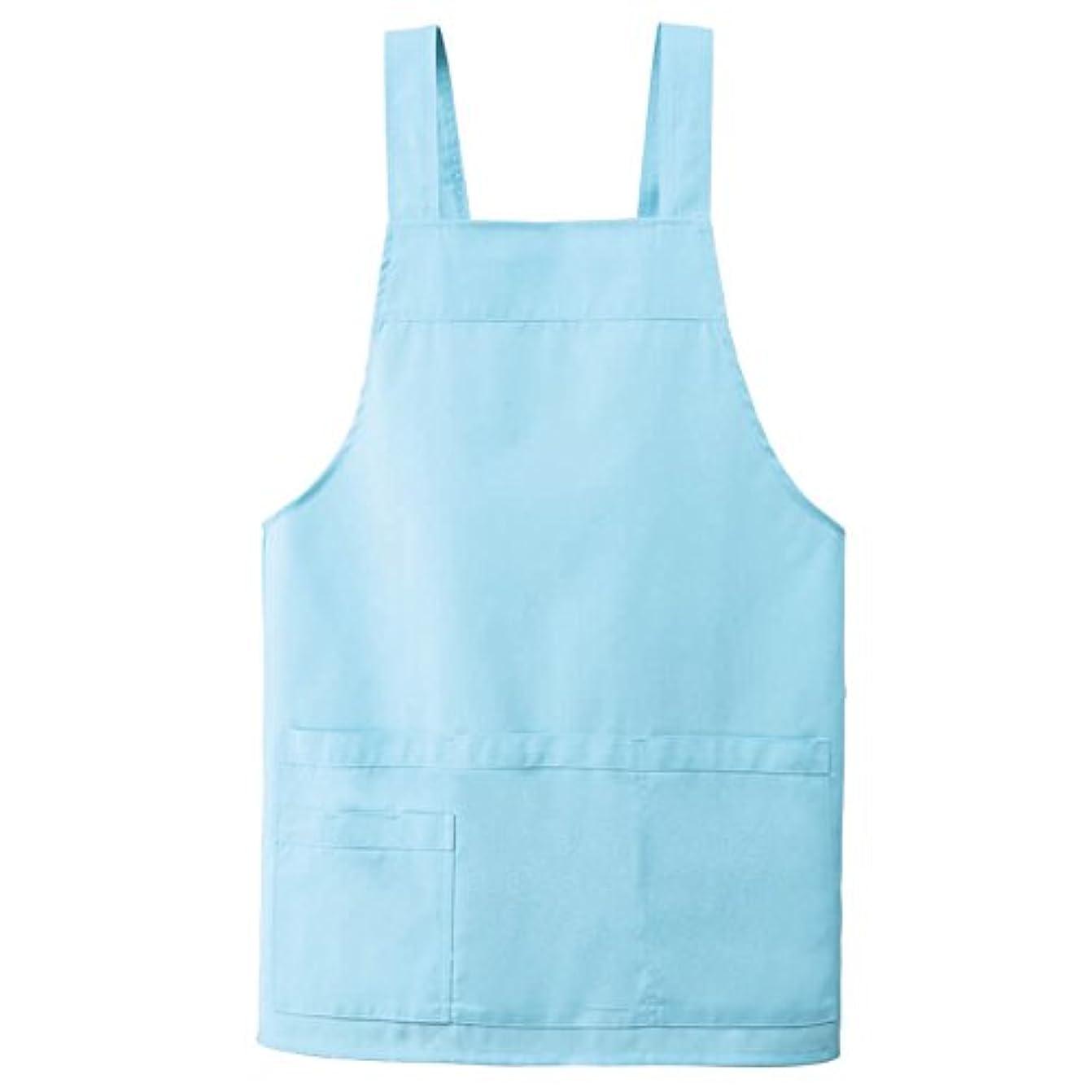 日没略語期間KAZEN カゼン 胸当てエプロンH型 AP489-21(ブルー) サイズ:L