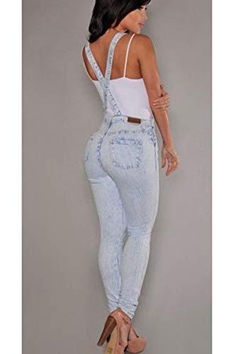 Le Donne Rompers Tasca Tute Di Salopette Blu Yulinge Jeans Con Ragazzo d4gafwdqnx